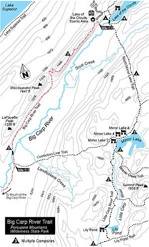 Big Carp River Trail Map