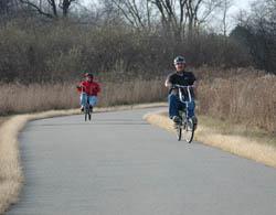 Cyclists following the Chippewa Trail.