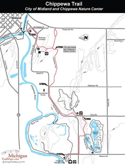 Map of Chippewa Trail