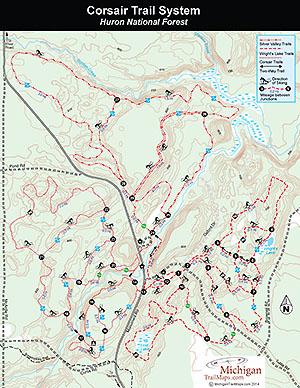 Corsair Ski Trail Map