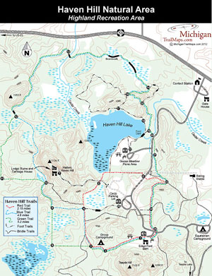 Map of Haven Hill Natural Area