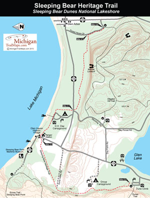 Map of Sleeping Bear Heritage Trail