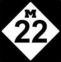 M-22 highway sign
