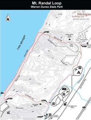 Warren Dunes State Park Map