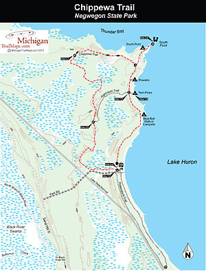Map of Negwegon State Park