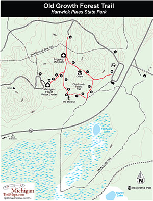 Old Growth Forest Trail Map