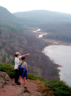 Hikers in Porcupine Mountains Wilderness State Park