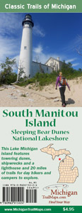 The cover to the South Manitou Island map.