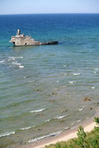 The shipwreck Francisco Morazan on South Manitou Island.