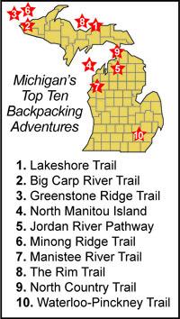Michigan's Top Ten Backpacking Adventures