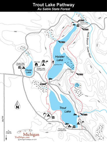 Map of Trout Lake Pathway