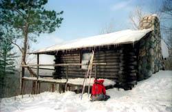 Honeymoon Cabin in the Winter