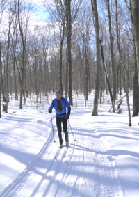Cross Country skier at Goodhart Farms.