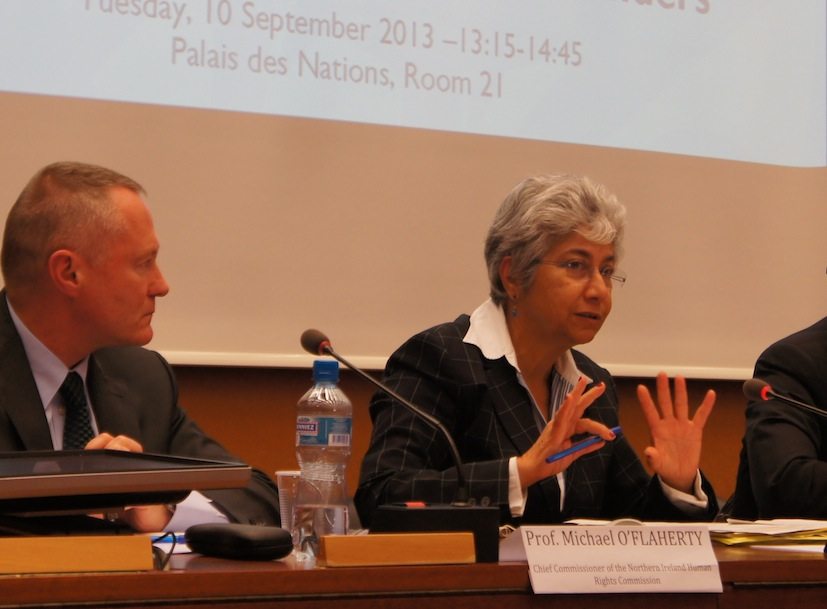 Image of Flavia Pansieri speaking at ISHR's side event on reprisals