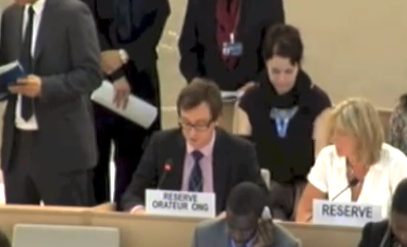 Image of ISHR giving a statement at the Human Rights Council