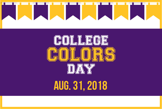 College Colors Day Aug. 31, 2018