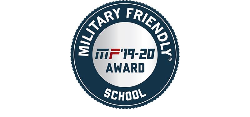 Military Friendly School. MR '19-20 Award