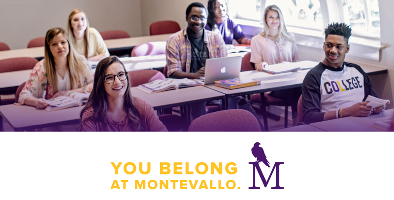 Students in a classroom. You Belong At Montevallo