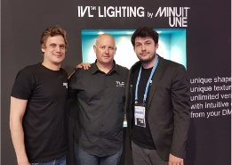 L-R: Aurélien Linz – CEO - Minuit Une , Sean McKernan General Manager -TLC Global, Eric Phelep Sales Director -Minuit Une