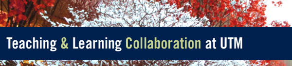Teaching & Learning Collaboration at UTM over snow-covered tree