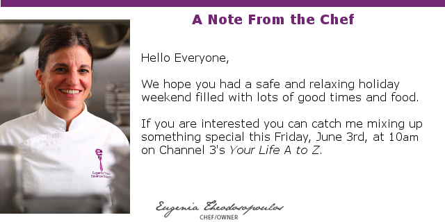 Note From the Chef