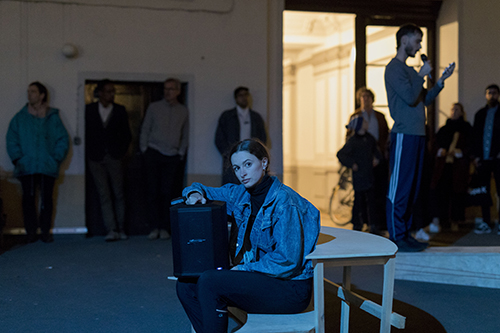 Johanna Bruckner, TERRA X, 2018. Performance, two-channel video installation. Photo courtesy of the artist