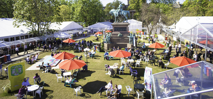 A view of Charlotte Square during the Festival