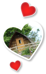 Wooden Wigwam Cabins available for a romantic weekend away