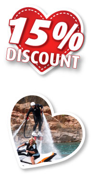 15% Discount on Flyboarding