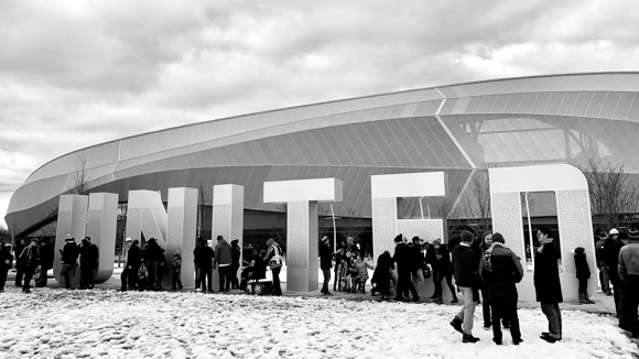 This United sign stands proudly in front of the just opened Allianz Field, the new Minnesota United home. Our family name is on there somewhere.