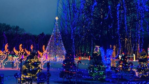 Holiday light display in Mankato, MN.