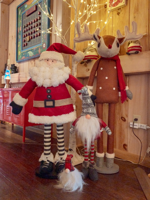 Christmas figurines at the ready.