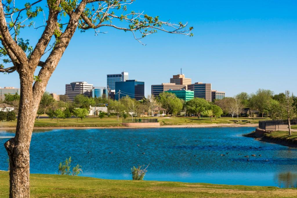 Lake in Midland, Texas