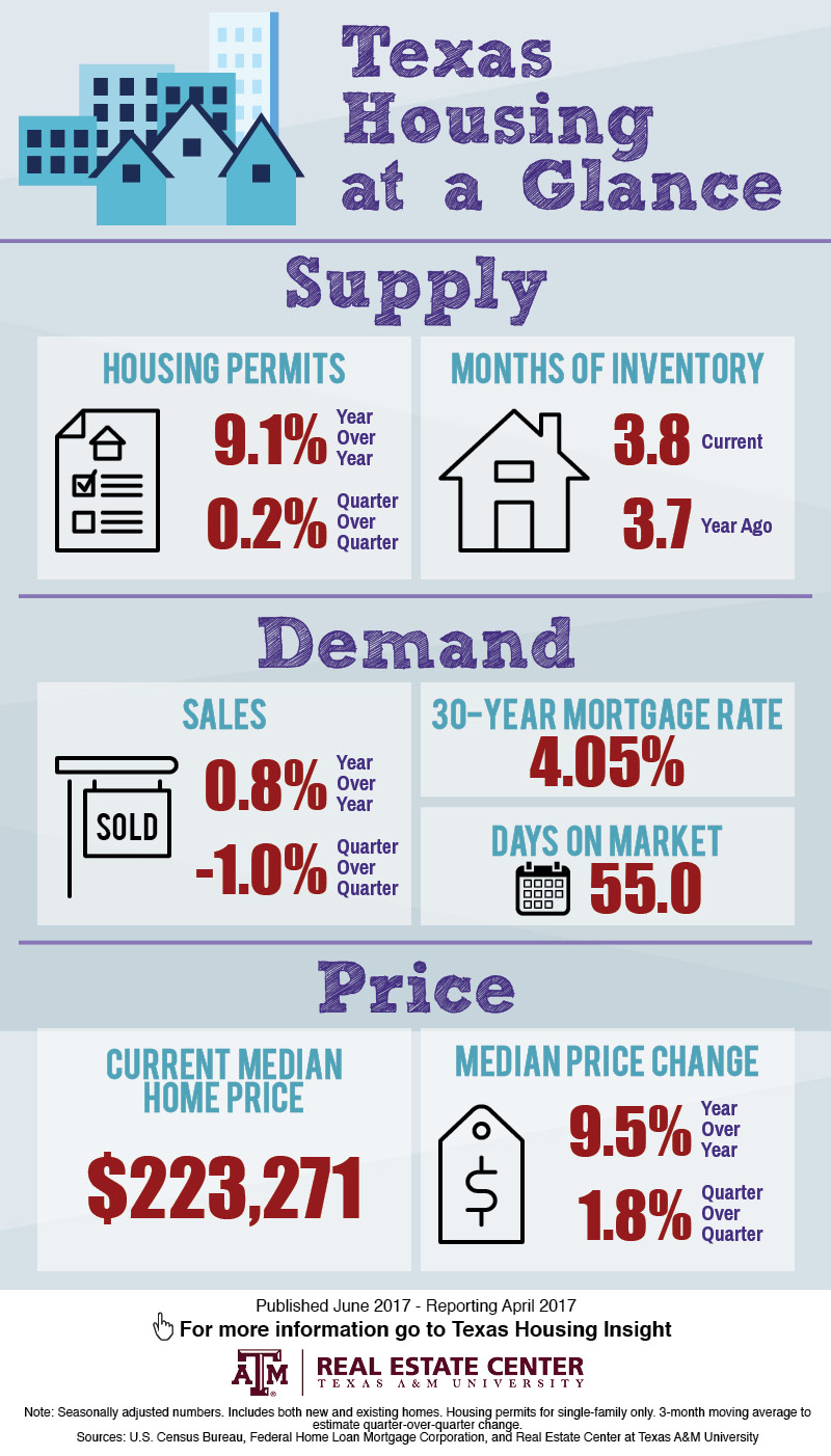 Texas housing stats infographic