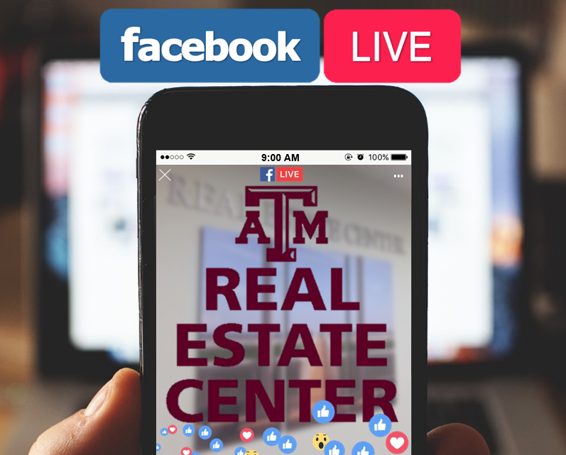 The Real Estate Center is going live Thursday at 11.
