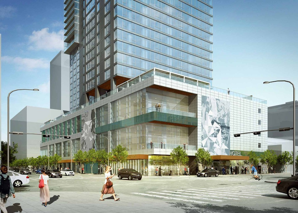 Rendering of 5th and Brazos tower