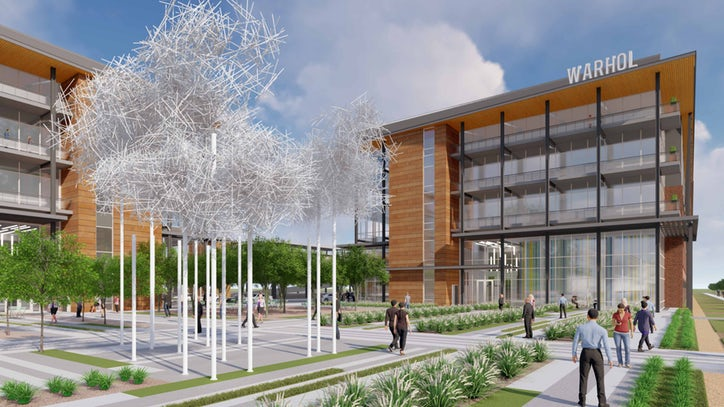 Rendering of new Cypress Waters office projects