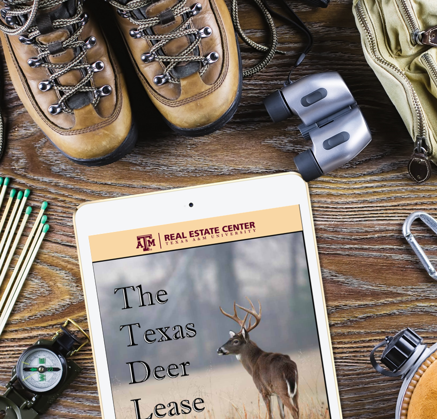 iPad with Deer Lease report by hunting equipment