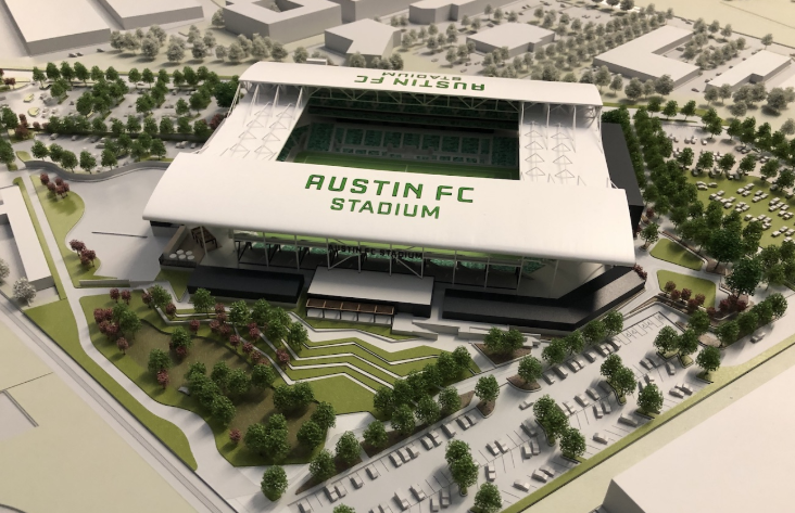 3D rendering of Austin FC stadium