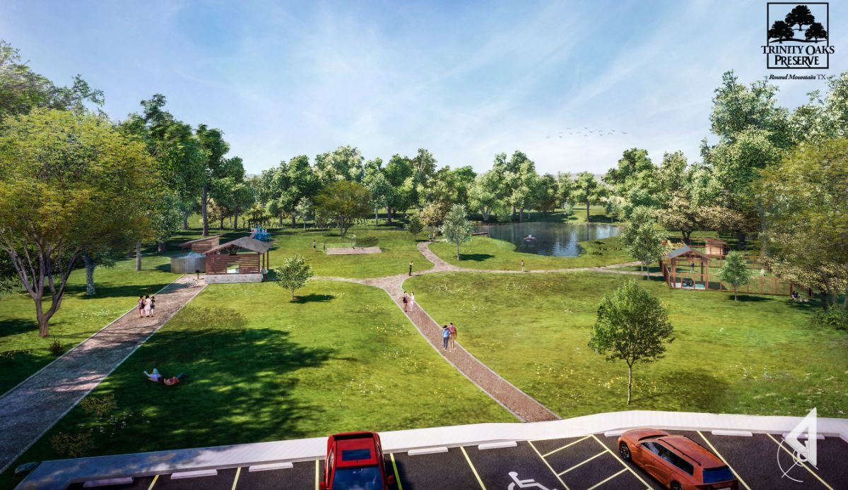 Rendering of Trinity Oaks Preserve common areas