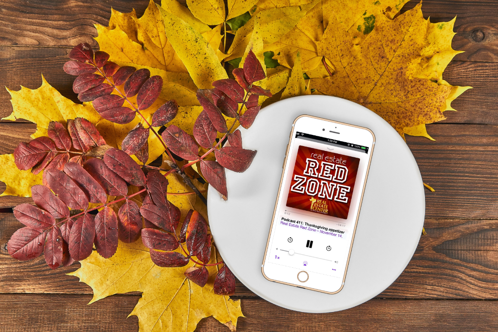iPhone playing podcast on a plate by leaves