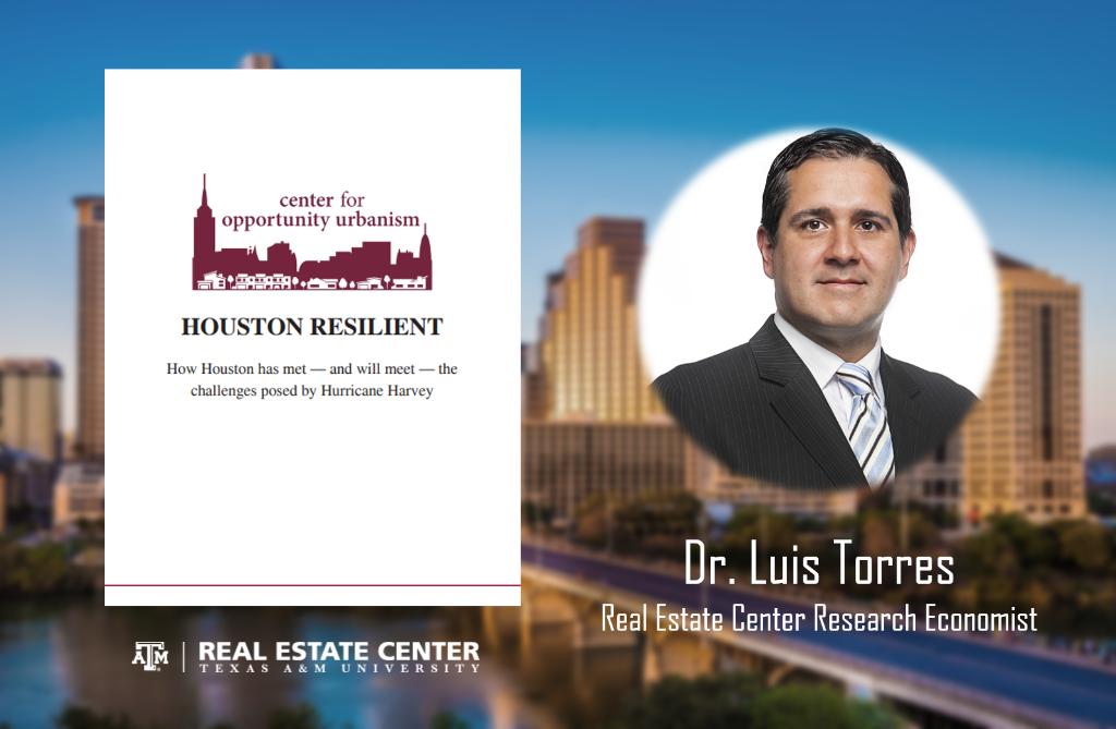 Dr. Luis Torres headshot over Houston skyline