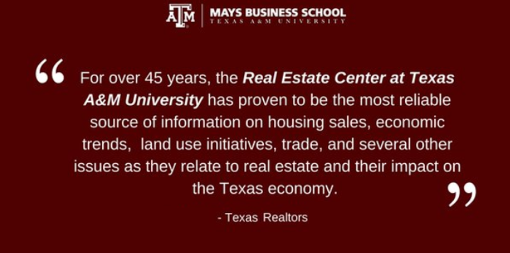 Texas Realtors quote about Real Estate Center