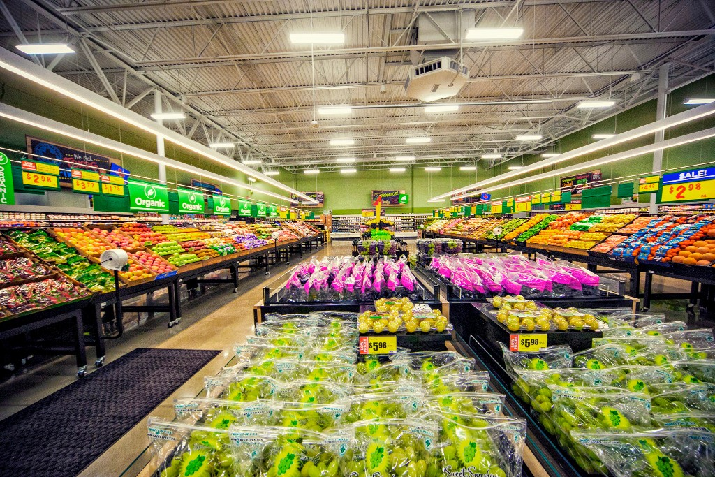 Produce is lined up perfectly in a new H-E-B store
