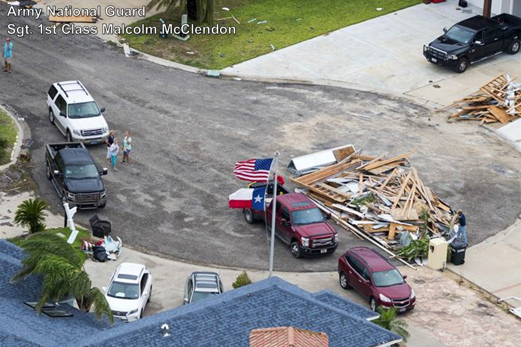 Hurricane Harvey recovery in Rockport, Texas.