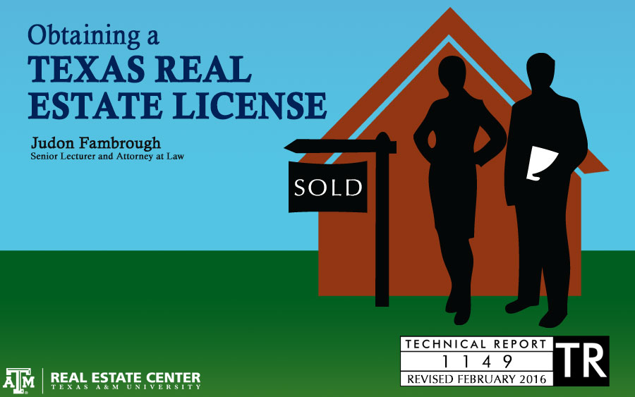 Obtaining a Texas Real Estate License cover