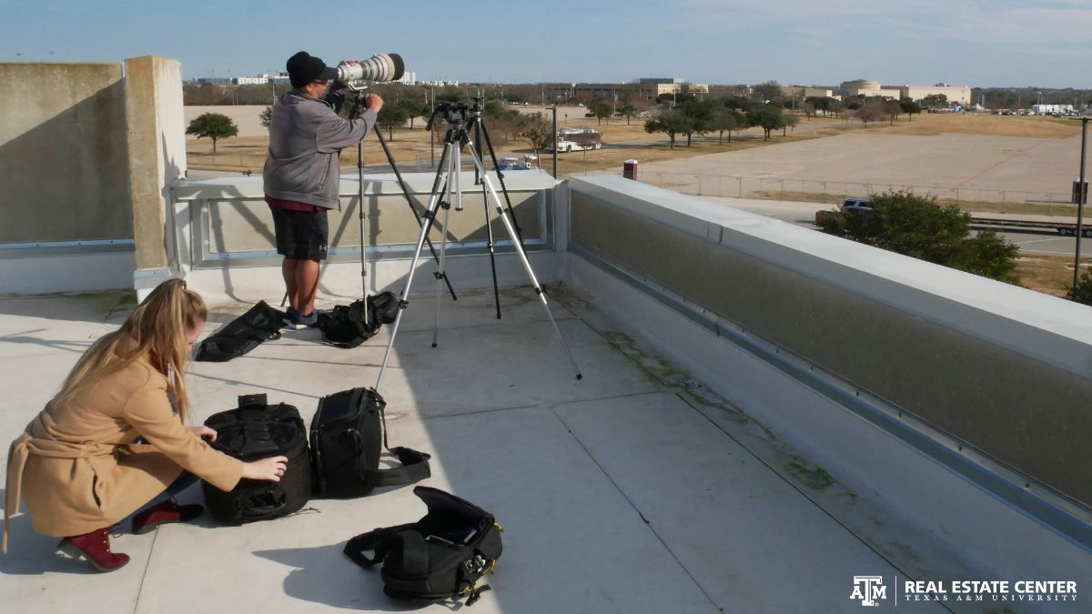 JP and Alden set up cameras on the Center's roof