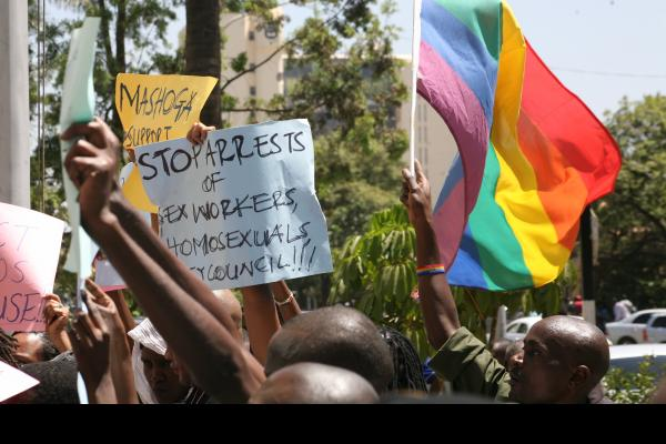 protest for gay rights kenya