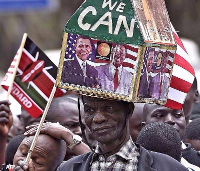 kenyans during obama visit