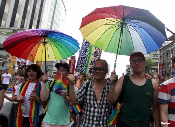 taiwan gay marriage rally